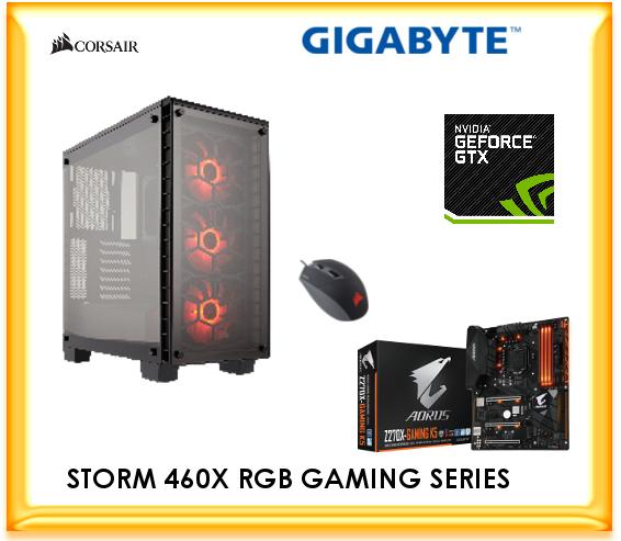 SC-460X RGB i7 8700 3 2GHz 1060 6GB Gaming Computer , 16GB DDR4, 250GB SSD,  1TB HDD, GTX1060 G1 6GB Gaming, Windows 10