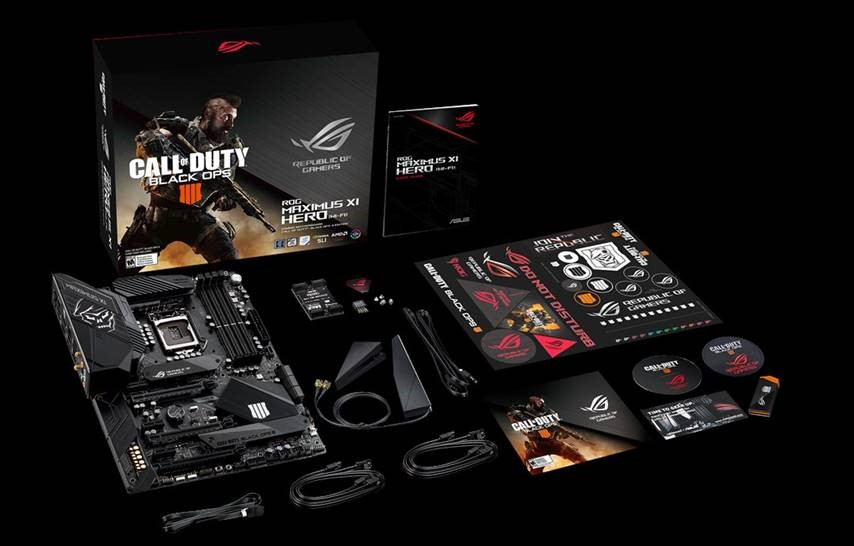 ASUS ROG MAXIMUS XI HERO (WI-FI)/CE Z390 Motherboard WiFi Call Of Duty  Black Ops 4 Special Edition