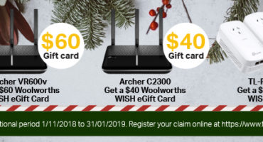TP-Link Christmas 2018 Promotion – up to $60 Woolworths e-Gift Card