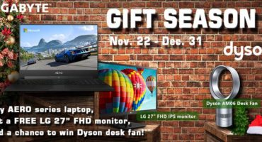 PROMOTION EXPIRED: FREE 27″ LG Monitor with Gigabyte Notebook – While stocks last!