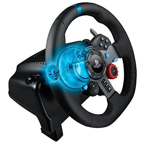 a87746508ad Logitech G29 Driving Force Racing Wheel PS3 & PS4 Dual motor force feedback  Helical gearing with anti-backlash 900° steering – 941-000115