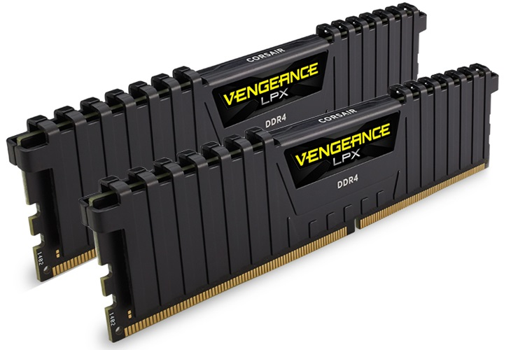 Corsair Vengeance CMK16GX4M2B3000C15 LPX 16GB (2x8GB) DDR4 3000MHz C15  Desktop Gaming Memory Black