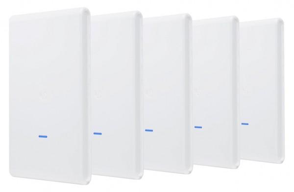 Ubiquiti UniFi AP AC Mesh PRO 802 11ac Dual Radio Indoor/Outdoor access  point - 1750Mbps 5 pack no PoE UAP-AC-M-PRO-5
