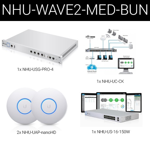 Ubiquiti Wave2 UniFi Wireless and Security Medium Business Bundle  Wave2-Med-Bun
